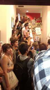 Student protestors at the University of Sydney