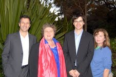Leichhardt Mayor Rochelle Porteous (second from left) with her fellow Greens election candidates