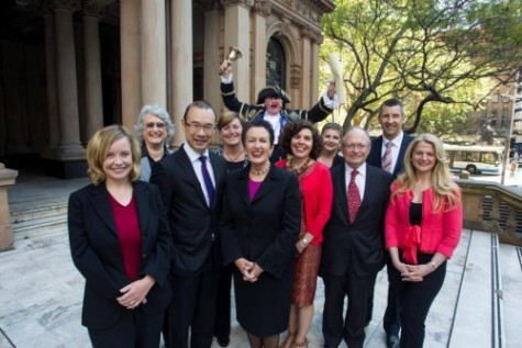 The newly elected City of Sydney councillors