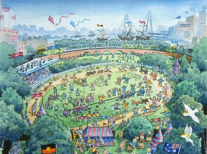 Promotion cartoon for the Wentworth Park Games
