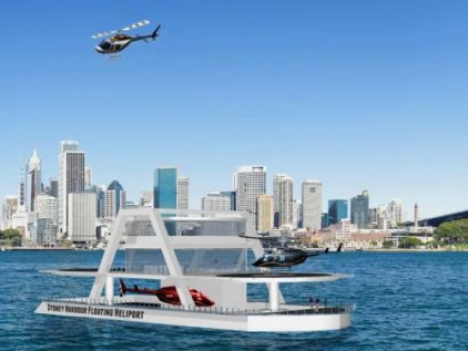 An artist's impression of the floating heliport