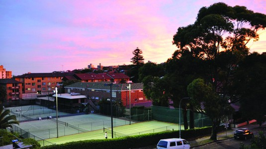 Maccabi tennis courts, the site of a controversial rezoning proposal / Photo: Maccabi Tennis