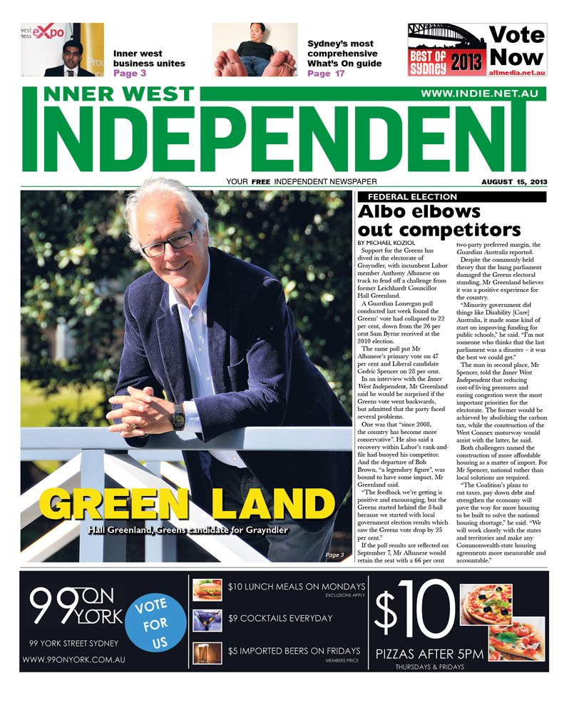 Independent cover August 15