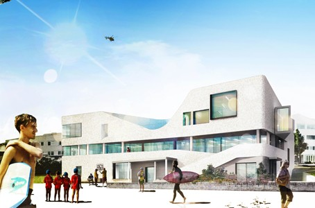 An artist's impression of North Bondi SLSC