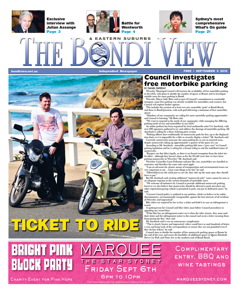 Bondi View cover September 5
