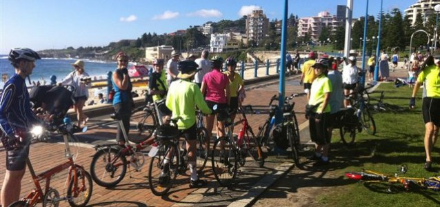 BIKEast riders on their way to La Perouse / Photo: Peter Kalish