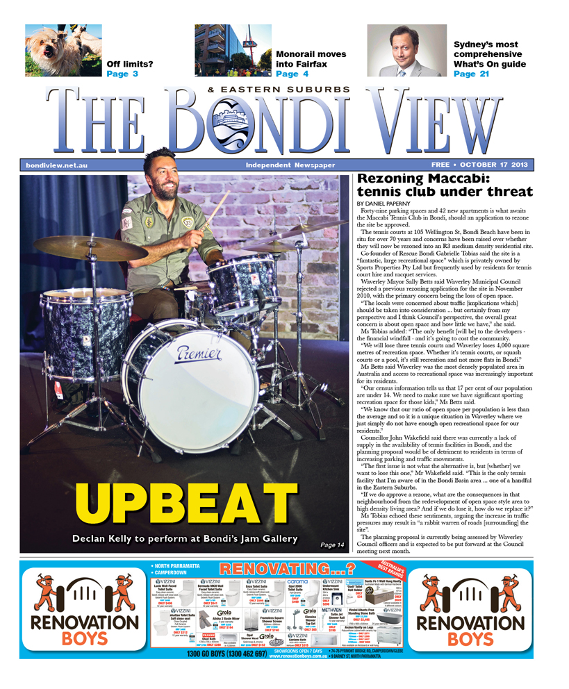 Bondi View cover October 17
