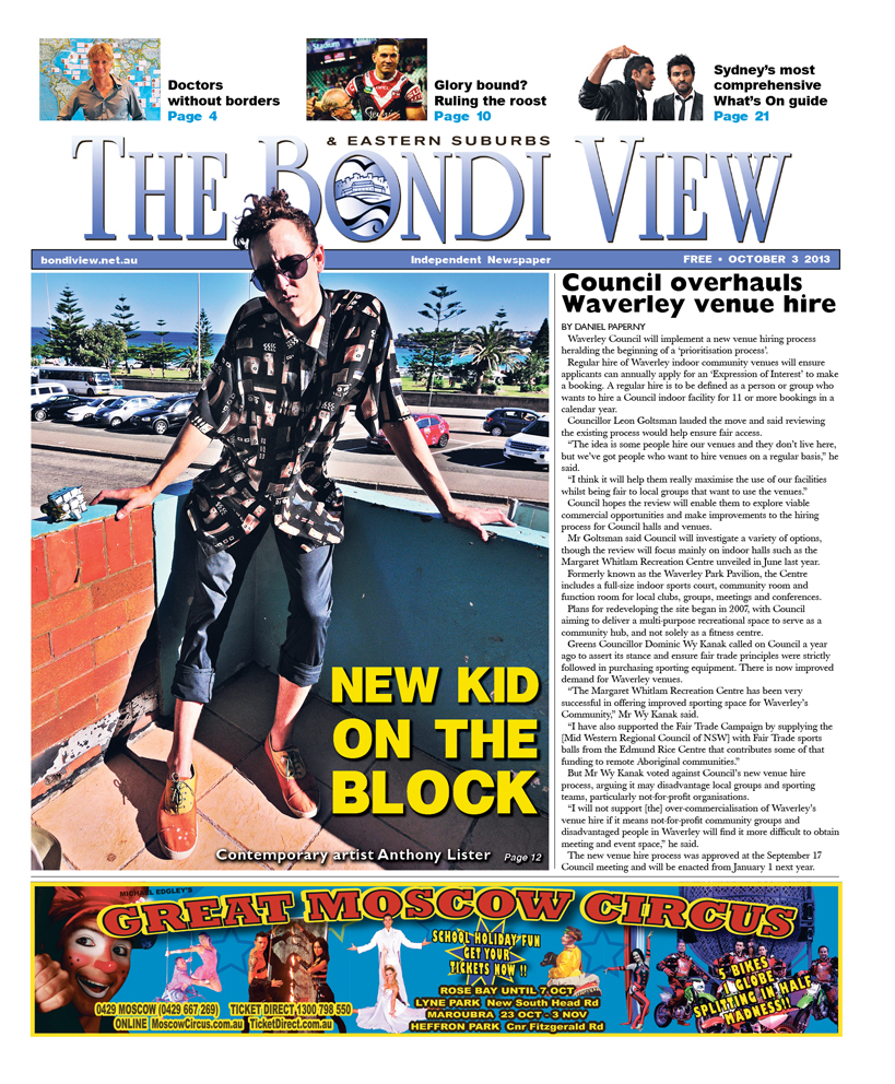 Bondi View cover October 3