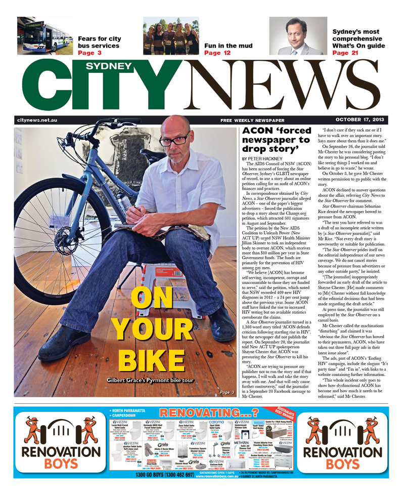 City News cover October 17