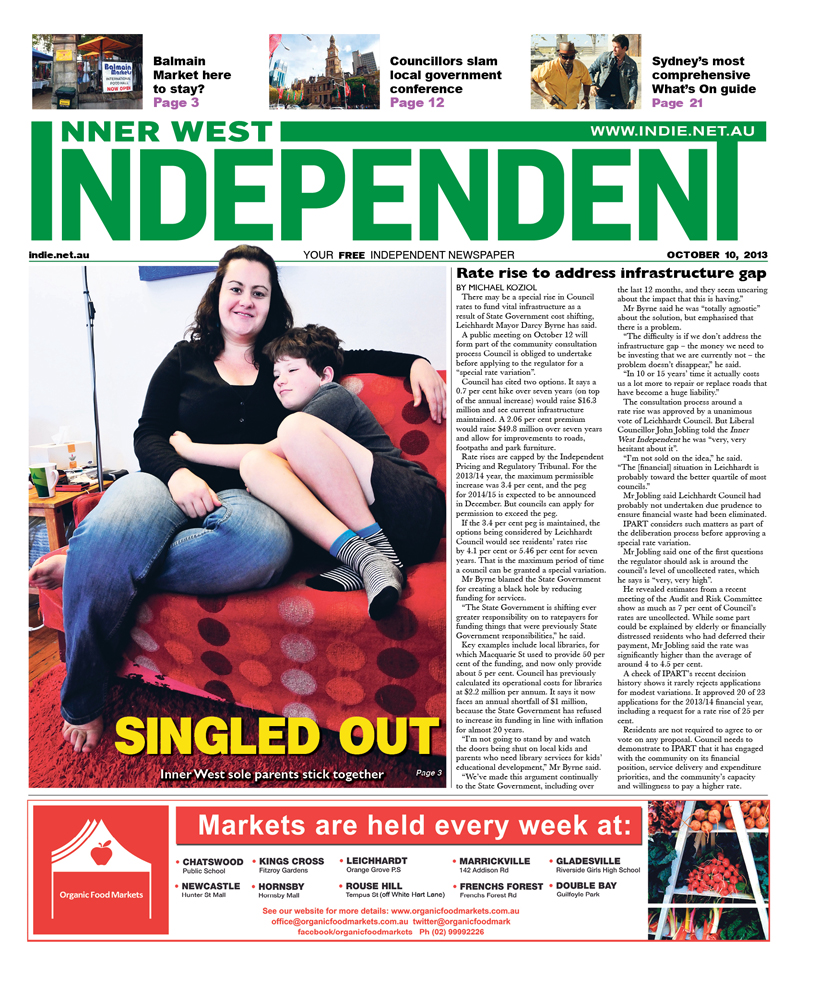 Independent cover October 10