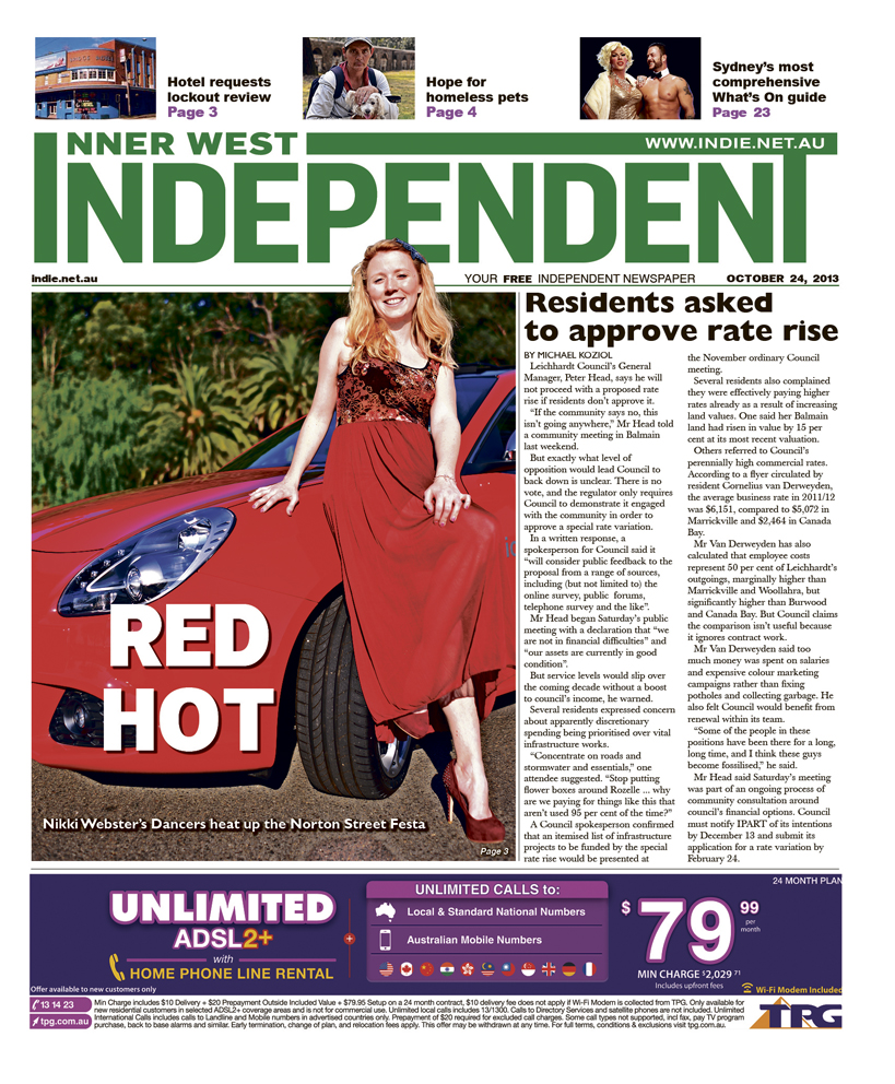 Independent cover October 24