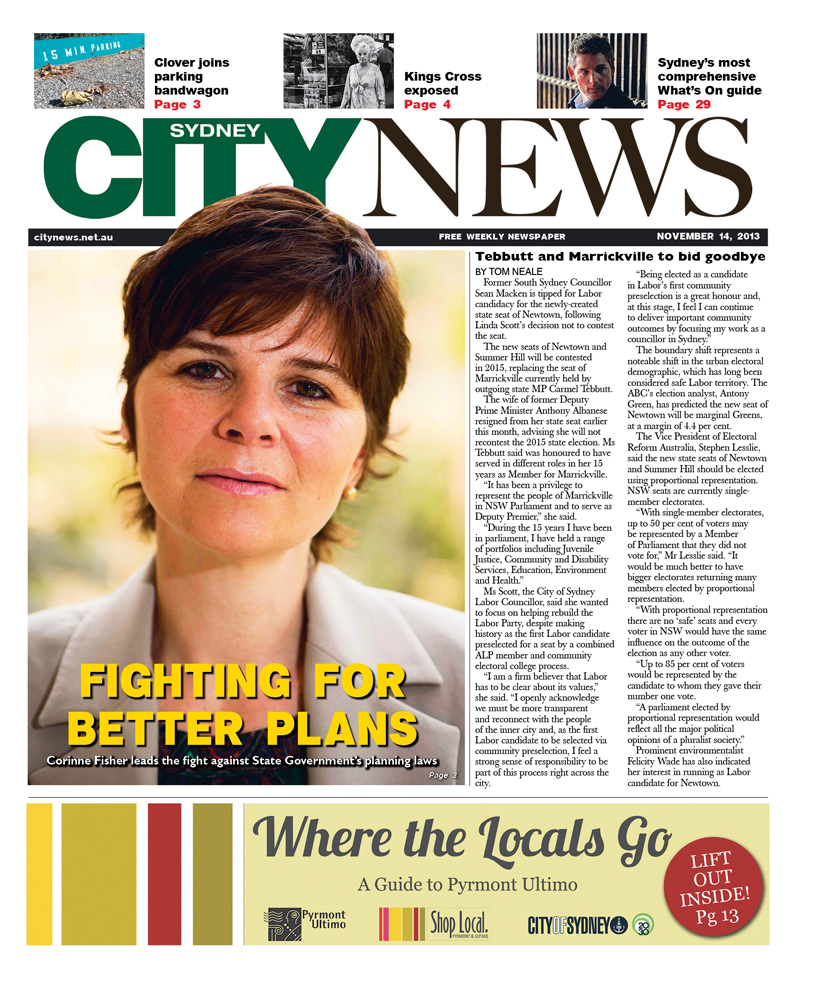 City News cover November 14