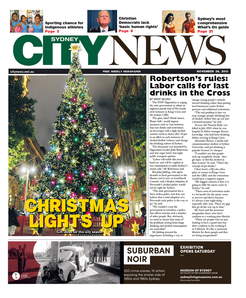 City News cover November 28