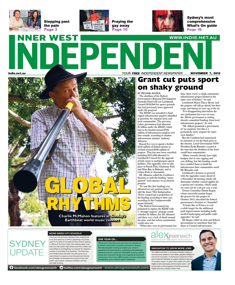 Independent cover 7 November
