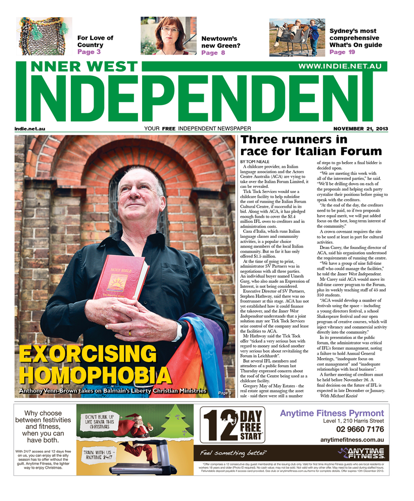 Independent cover November 21