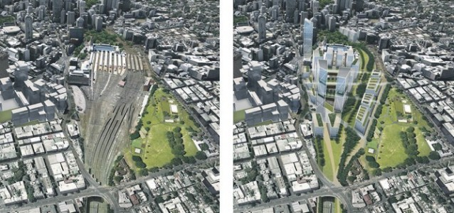 Now and the future: The Central to Eveleigh rail corridor