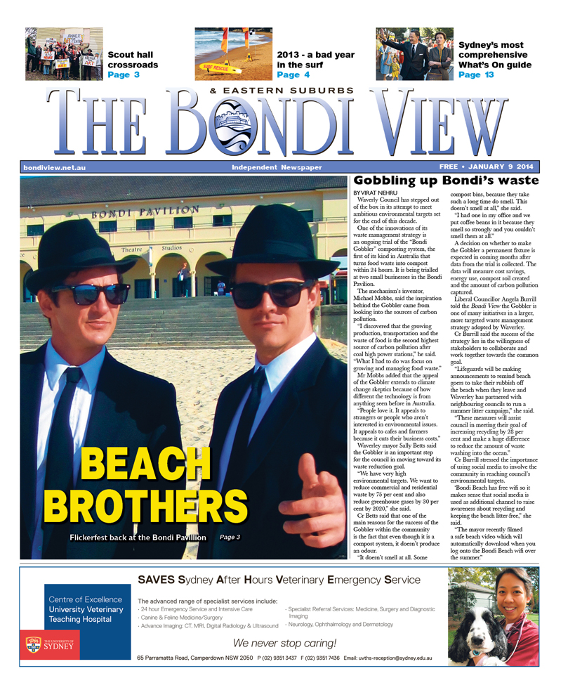 Bondi View cover January 9
