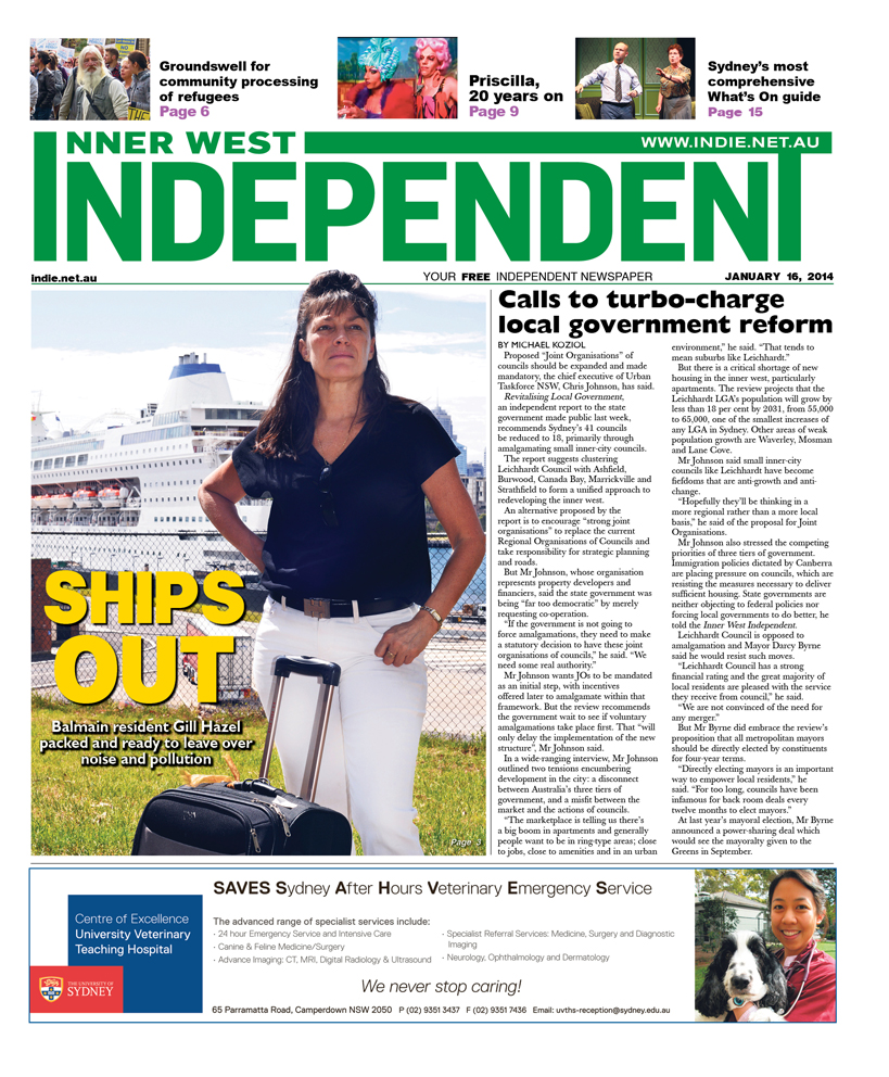 Independent cover January 16
