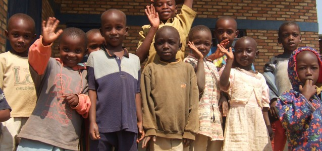 A group of Rwandan children. Photo by Dr Wendy Lambourne.