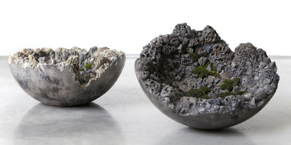Slag Bowl II and Slag Bowl I, by fellowship-winning artist Jamie North