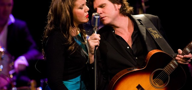 Rachael Tidd and Tex Perkins in 'The Man In Black'.