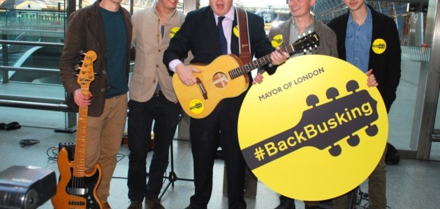 NC boris johnson busking