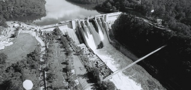 Warragamba dam, shortly before it was officially opened in 1960. Photo: Sydney Water