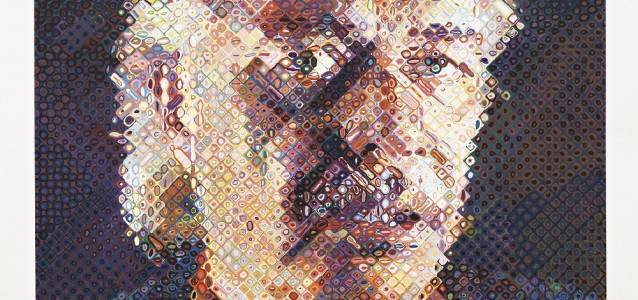 John (1998) by Chuck Close, photo: courtesy of Pace Prints and Pace Gallery