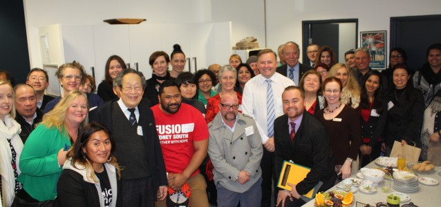 Anthony Albanese with community members at the Marrickville Electorate Office. Image: Anthony Albanese