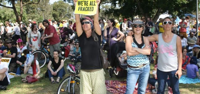 Protestors rally against coal seam gas in Sydney. Photo: Stop CSG Sydney