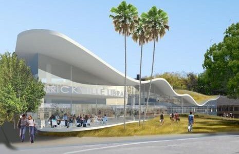 An artist's impression of one possible design for the new Marrickville Library. Image: Lacoste and Stevenson