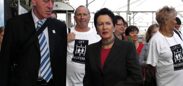 Lord Mayor Clover Moore with Lift Redfern campaigners