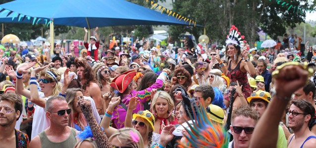 Revelers at Return to Rio on the Hawkesbury River