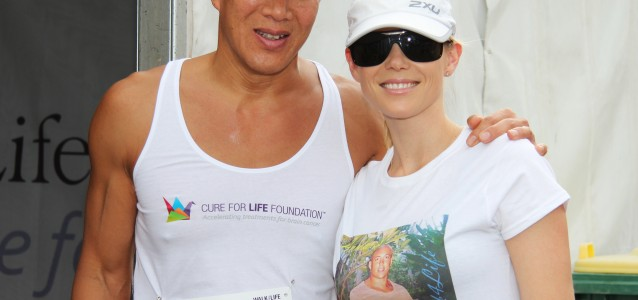 Dr Charlie Teo and Holly Brisley who will be walking on Sunday