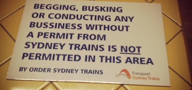 One of the signs posted in the Central tunnel. Photo: Nick McHardy, via Twitter.