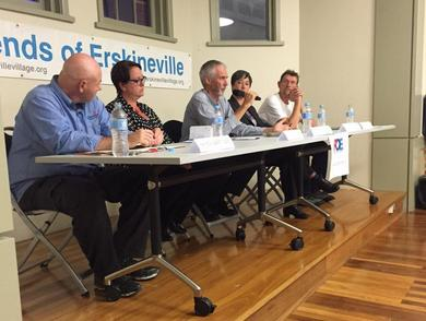 Candidates at the forum on Friday. Source: twitter