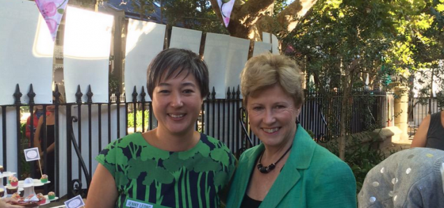 Jenny Leong and Christine Milne on election day. Source: twitter.com