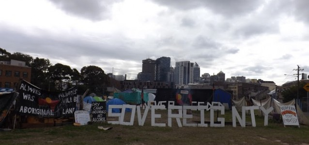 The Aboriginal Tent Embassy at Redfern. Photo: Callum Cyrus