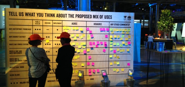 One of the feedback boards on the day. Photo: Joe Bourke