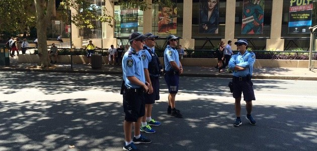 Police in Sydney. Source: twitter.com