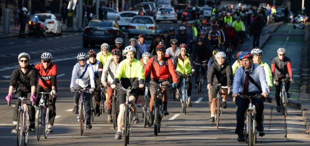Save College St Cycleway protest