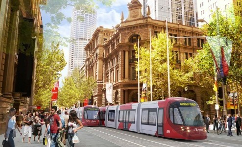 An artist's impression of the light rail. Source: hasselstudio.com