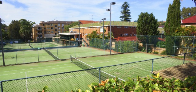 The Wellington St Tennis Courts. Source: Chris Boyd