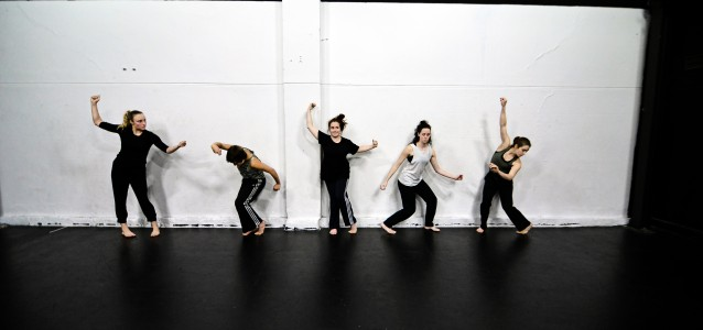 DirtyFeet dancers Ashlee Barton, Courtney Scheu, Annabel Saies, Emma Harrison and Ivey Wawn. Photo: Chris Peken