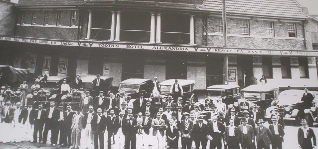 The Alexandria Hotel as it stood in the 1930s- residents have fought to heritage list the building. Source: Harry McAsey