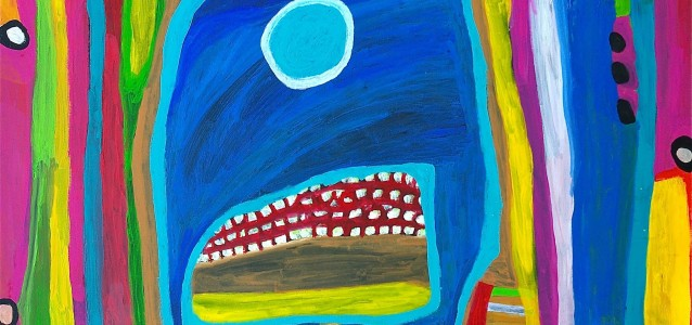 Dolly Snell was the winner of the 2015 Telstra Award   Mangkaja is Aboriginal owned and governed art centre http://www.mangkaja.com/ Works sourced from Mangkaja have excellent provenance.     Source: Dolly Snell Jukuja, Kurtal © Dolly Snell/Mangkaja Arts. Licensed by Viscopy.