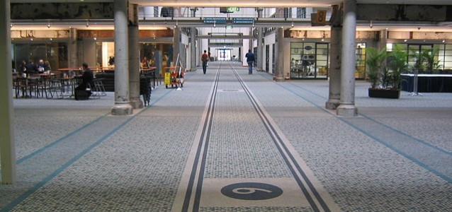 An interior view of the main walkway through the centre of the Australian Technology Park building. The ATP is in the old Eveleigh railway workshops.Photo: John Dalton