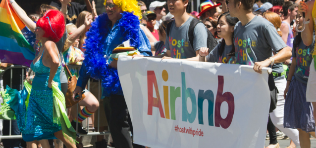AirBNB at San Francisco Pride. Photo: Quinn Dombrowski