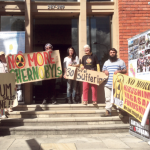 Uranium protesters gather at PM's Edgecliff office