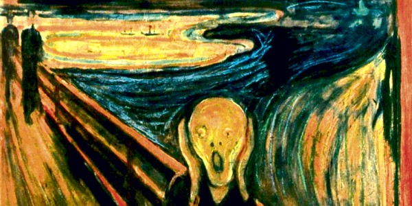 This is not me after a bad haircut: it's the psychological trauma of noise captured in Edvard Munch's, The Scream (1893). Source:   Andrew Woodhouse ex: Edvard Munch, The Scream (1893), Oslo Museum, Norway